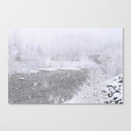 Light Snowfall Canvas Print