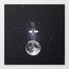 Ballerina on the moon. Canvas Print