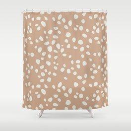PEACH PEBBLES Shower Curtain