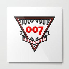 Good Vibes 007 Metal Print