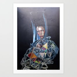 Grace Jones Mural Art Print