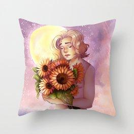 Sun and Sunflowers Throw Pillow