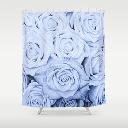 Some people grumble - Blue Rose, Floral Roses Flower Flowers Shower Curtain