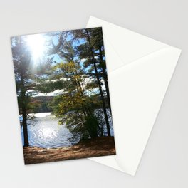 Quiet Lake in Autumn Stationery Cards