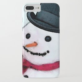 Snowman Christmas Art - Frosty - Holiday Artwork by Sharon Cummings iPhone Case