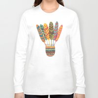rustic Long Sleeve T-shirts featuring Rustic shuttlecock by Picomodi
