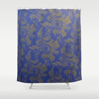 baroque Shower Curtains featuring Baroque Rose by Azure Cricket