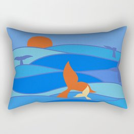 Whales Baby Whale and Mother Rectangular Pillow