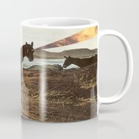 pony Mugs featuring PONY by KELLY SCHIRMANN