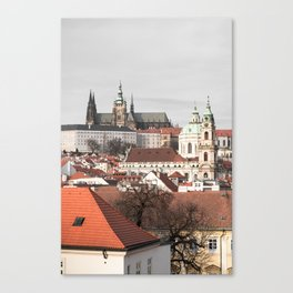 A glimpse on Prague Canvas Print