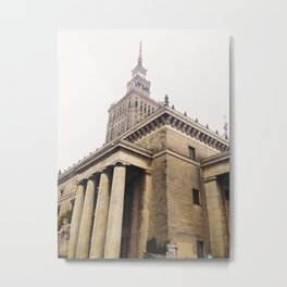 Palace of Culture and Science, Warsaw, Poland Metal Print