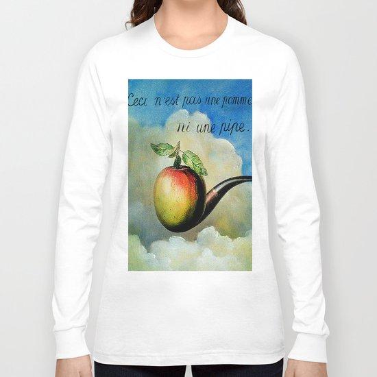 Ceci n'est pas une pomme ni une pipe Long Sleeve T-shirt