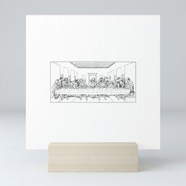 Last Supper Outline Sketch Mini Art Print