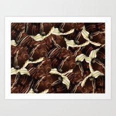 Brown Pod Puffs Art Print