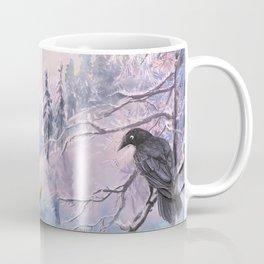 Frosty Pink Winter Scene Coffee Mug
