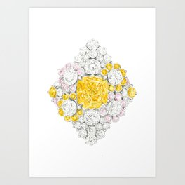 Romb Ring Art Print