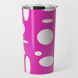 Pink Polka Dot Travel Mug