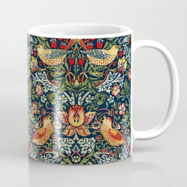 Strawberry Thief by William Morris 1883 Antique Vintage Pattern CC0 Spring Summer Coffee Mug