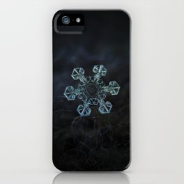 Real snowflake - Ice crown iPhone Case