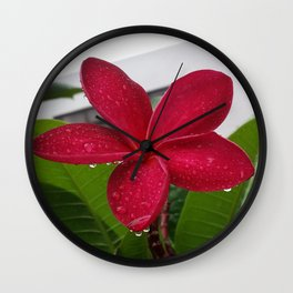 CAUGHT IN THE RAIN Wall Clock