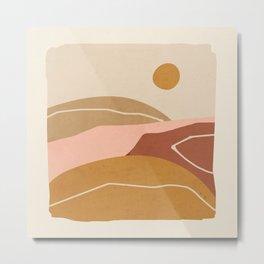 Minimal Abstract Art Landscape 3 Metal Print