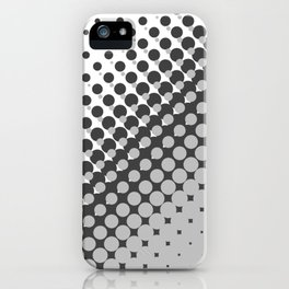 Dark grey and light grey halftone pattern iPhone Case