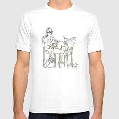 Sci Fi Afternoon Mens Fitted Tee White MEDIUM