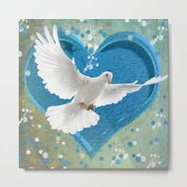 Bird of Peace and Love Metal Print