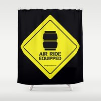 audi Shower Curtains featuring AIR RIDE EQUIPPED by shedpress