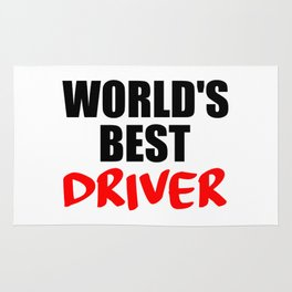worlds best driver funny saying Rug