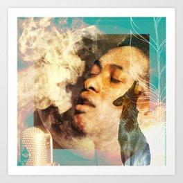Breath and Smoke Art Print