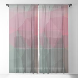 TWO WORLDS Sheer Curtain