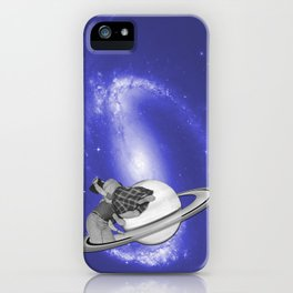 FLY ME TO THE SATURN iPhone Case