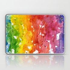 Rainbow Watercolor Texture Abstract Pattern Laptop & iPad Skin