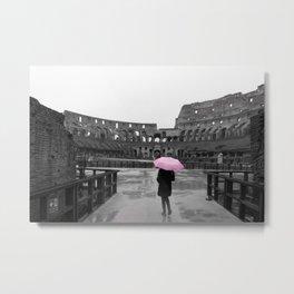 Colosseum rainy day Metal Print
