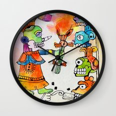 Witchdoctor, inspired by Frida Kahlo Wall Clock