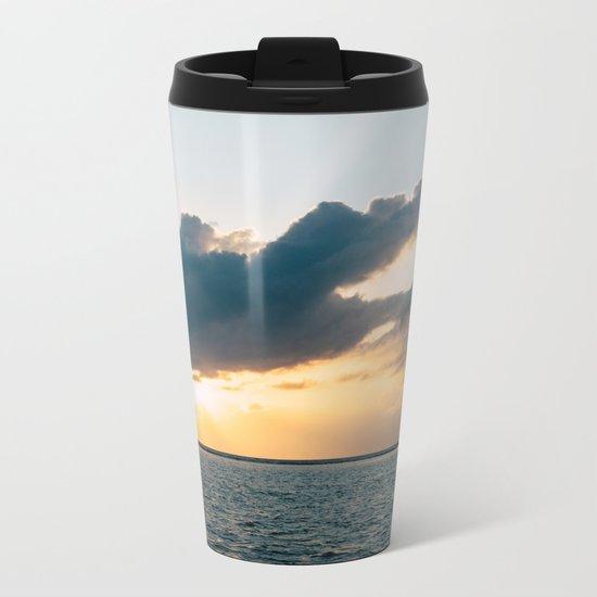 Island Sunset Metal Travel Mug