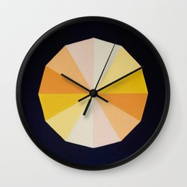 Yellow dodecagon  Wall Clock