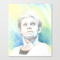 niall Canvas Prints featuring Niall by Rach