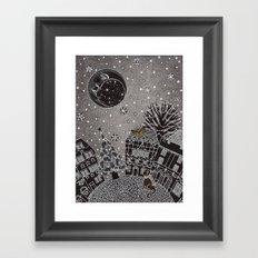 'Twas a Moonlit Winter Night Framed Art Print