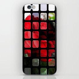 Red Rose Edges Art Rectangles 1 iPhone Skin