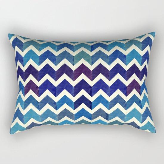 Watercolor Chevron Pattern III Rectangular Pillow