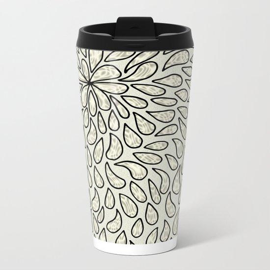 Pearlised Drops - Ivory Metal Travel Mug