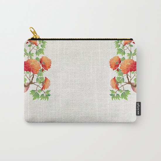deer flowers Carry-All Pouch