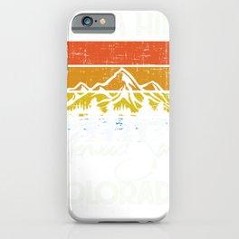 Colorado Vintage Take A Hike Glenwood Springs iPhone Case