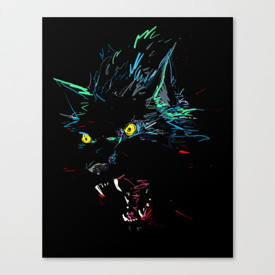 ElectroWolf Canvas Print