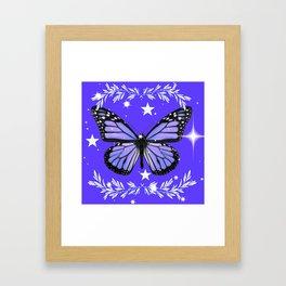 Purple Butterfly Framed Art Print