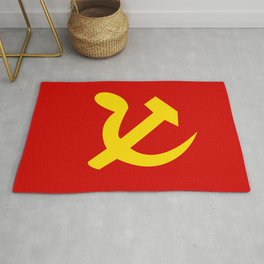 Soviet Union Hammer and Sickle Communist flag. Rug