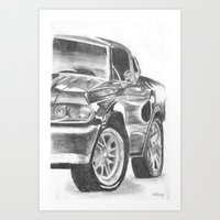 mustang Art Prints featuring Mustang by WNN Creations