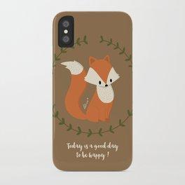 Renard roux // Red fox iPhone Case